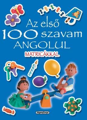 AZ ELSÕ 100 SZAVAM ANGOLUL MATRICÁKKAL (KÉK)