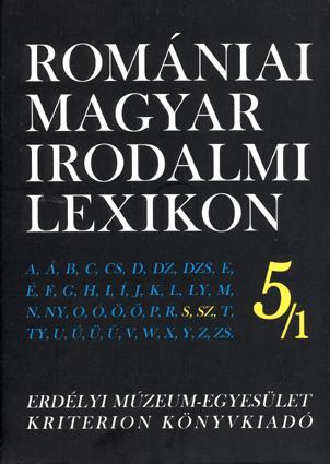 ROMÁNIAI MAGYAR IRODALMI LEXIKON 5./1. S,SZ
