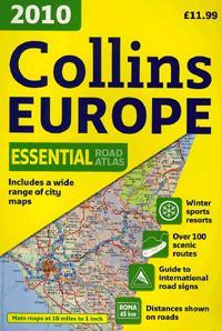 COLLINS EUROPE 2010 - ESSENTIAL ROAD ATLAS (EURÓPA ATLASZ, SPIRÁL A4)