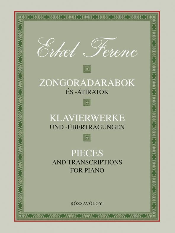 ERKEL FERENC - ZONGORADARABOK ÉS -ÁTIRATOK