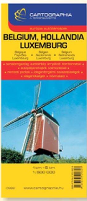 BELGIUM, HOLLANDIA, LUXEMBURG - AUTÓTÉRKÉP 1:500000