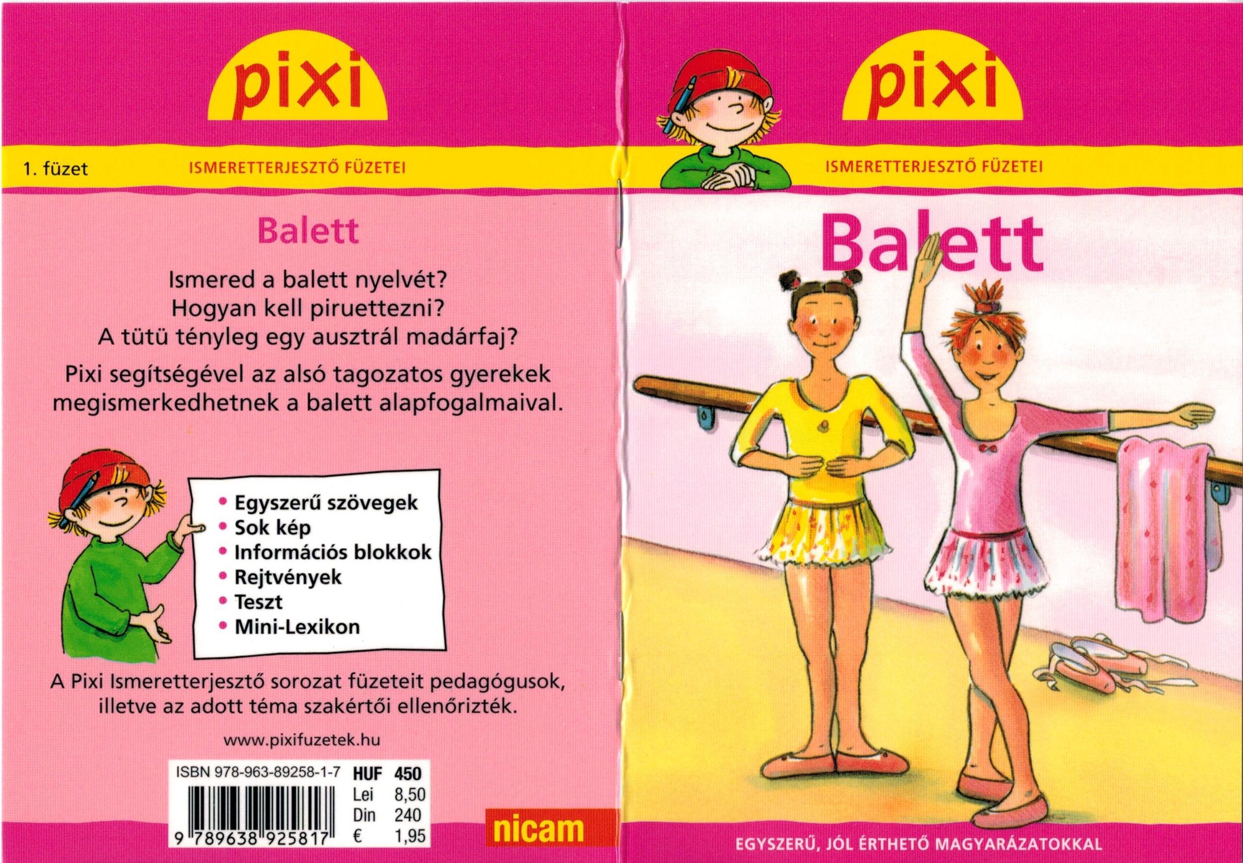 BALETT - PIXI ISMERETTERJESZTŐ FÜZETEI