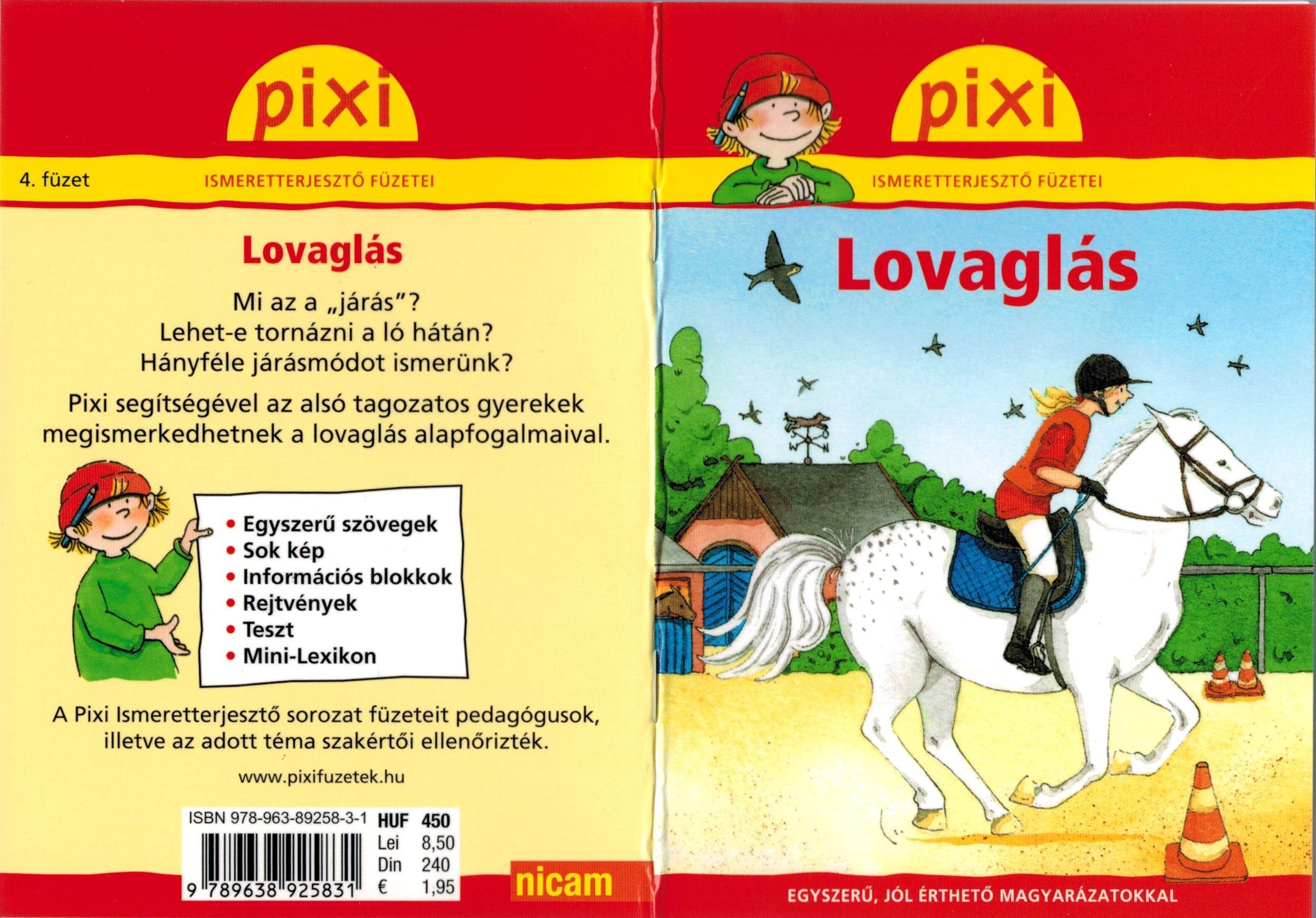 LOVAGLÁS - PIXI ISMERETTERJESZTŐ FÜZETEI