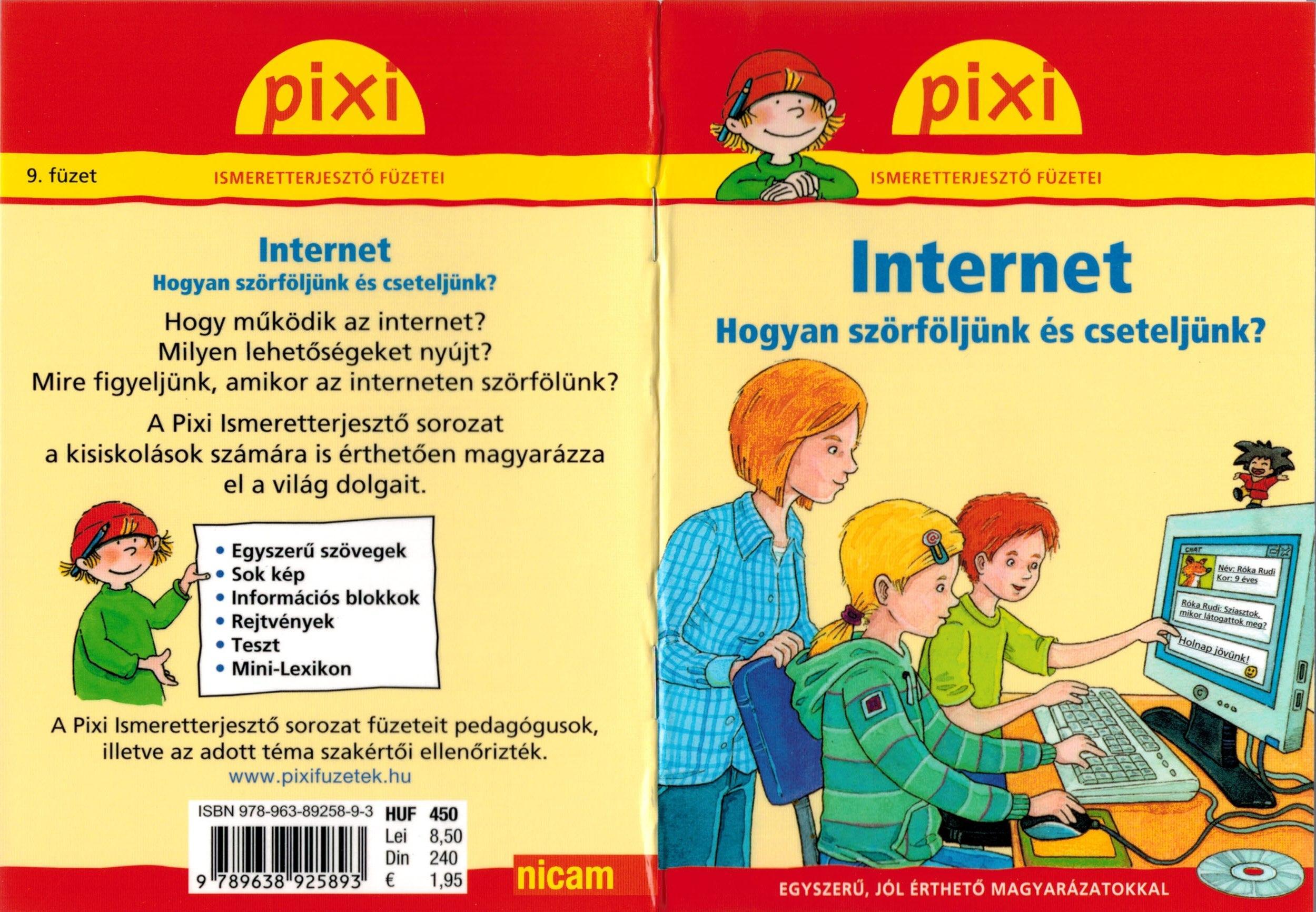 INTERNET - PIXI ISMERETTERJESZTŐ FÜZETEI