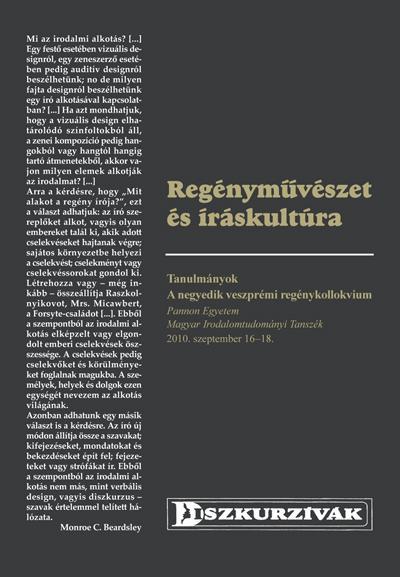REGÉNYMŰVÉSZET ÉS ÍRÁSKULTÚRA