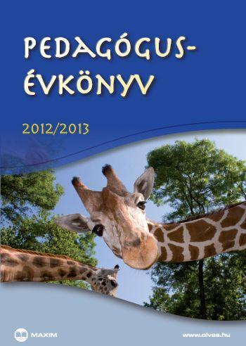 PEDAGÓGUS-ÉVKÖNYV 2012/2013