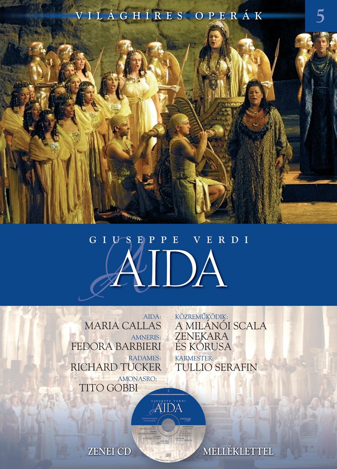 AIDA - VILÁGHÍRES OPERÁK - CD-VEL