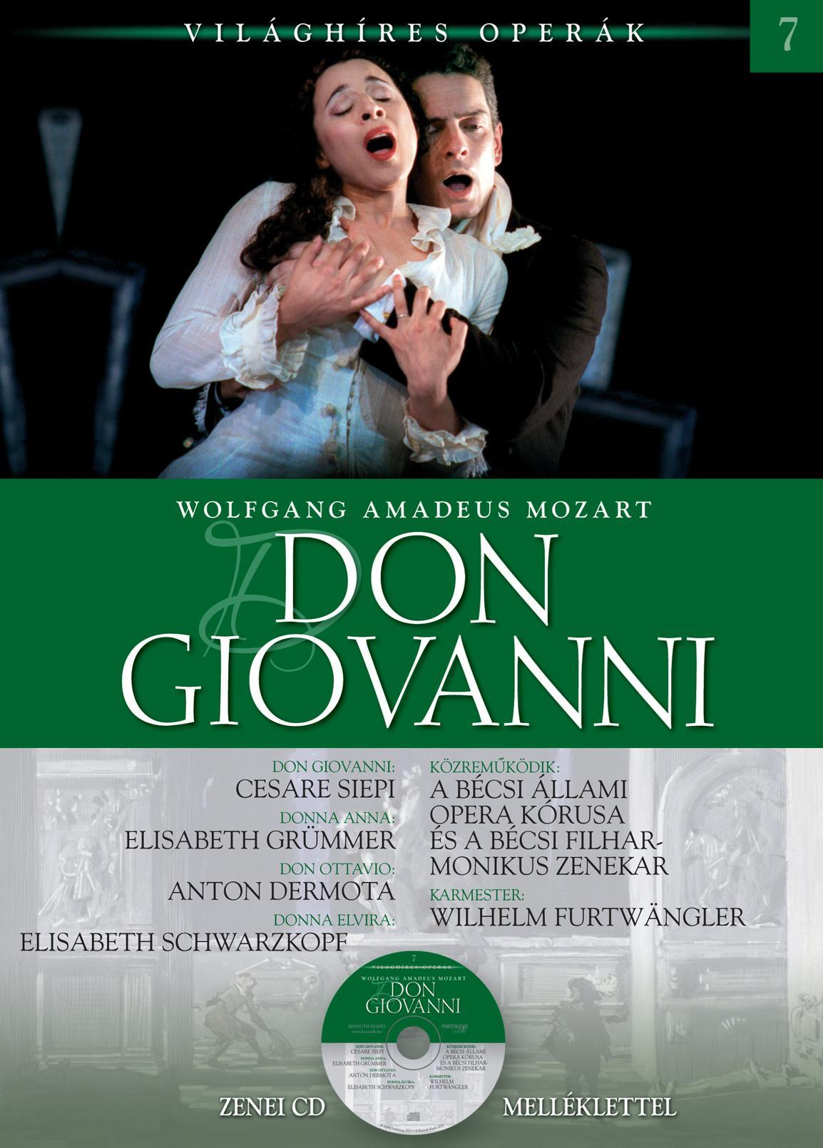 DON GIOVANNI - VILÁGHÍRES OPERÁK 7. - CD-VEL