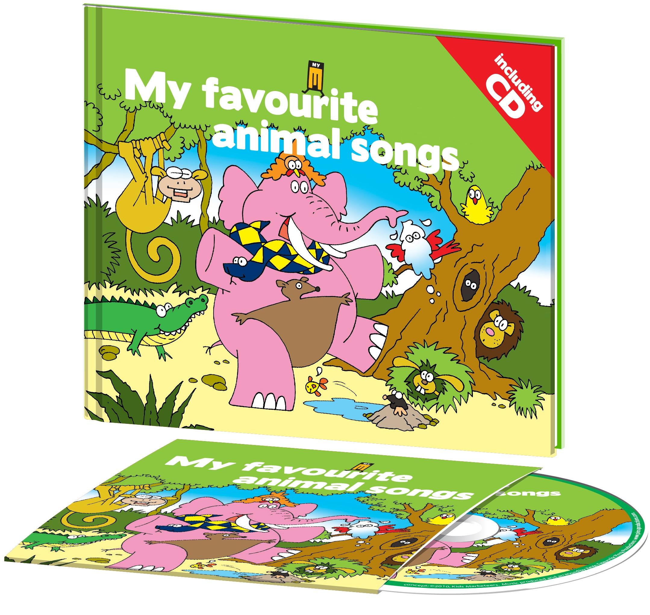 MY FAVOURITE ANIMAL SONGS - KÖNYV + CD