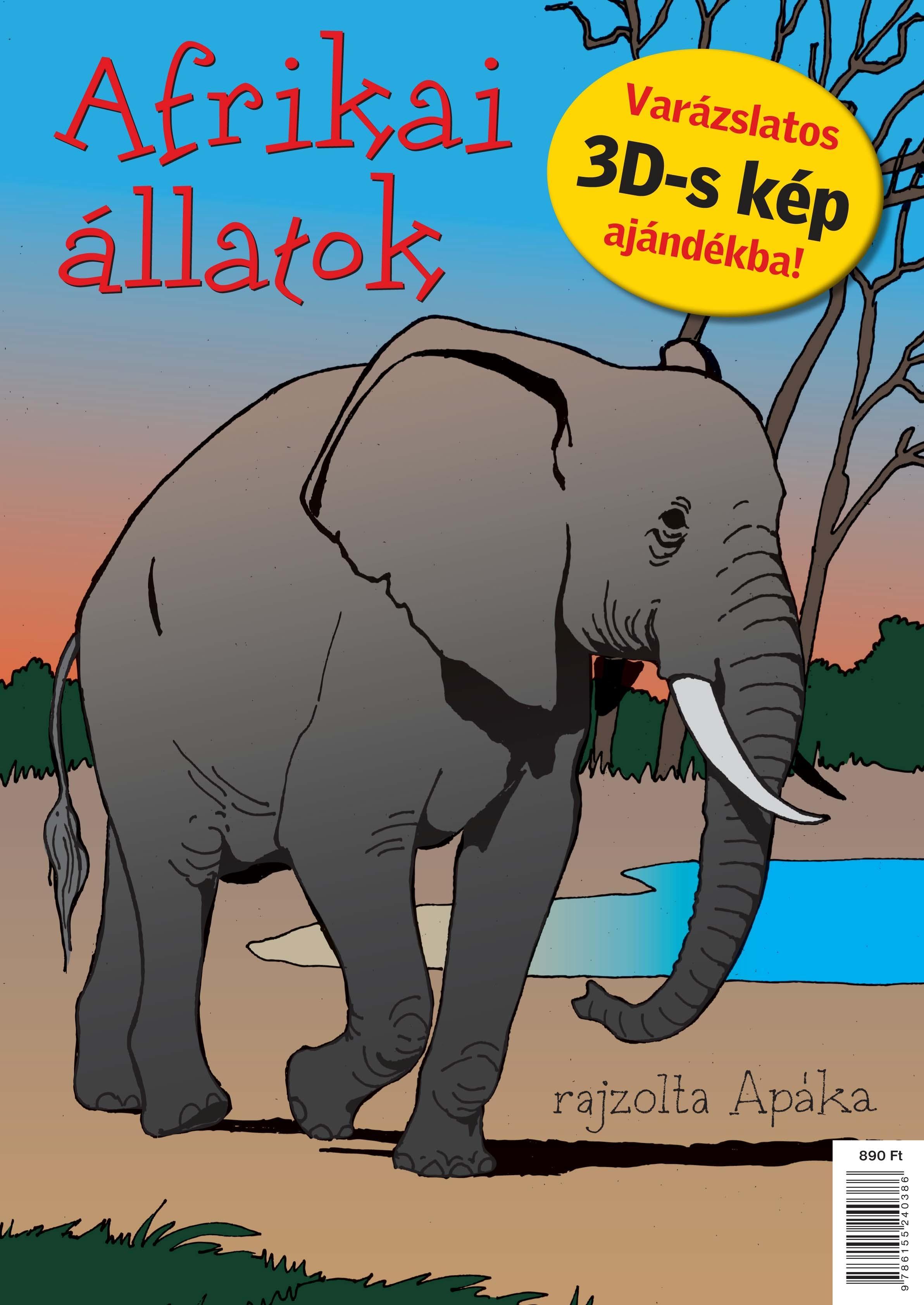 AFRIKAI ÁLLATOK - KIFESTÕ+AJÁNDÉK 3D-S KÉP