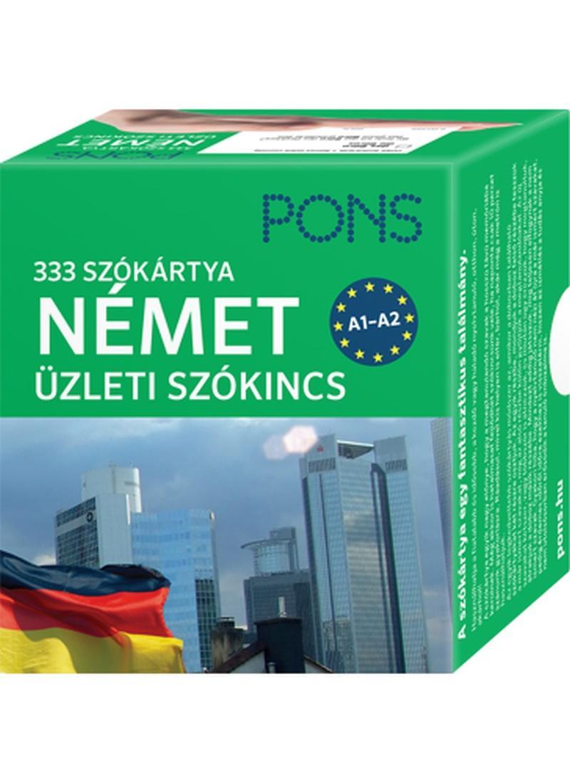 PONS SZÓKÁRTYÁK - NÉMET ÜZLETI SZÓKINCS