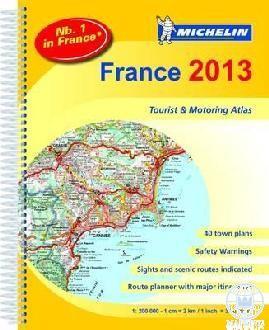 FRANCE 2013 TOURIST & MOTORING ATLAS - FRANCIAORSZÁG AUTÓATLASZ