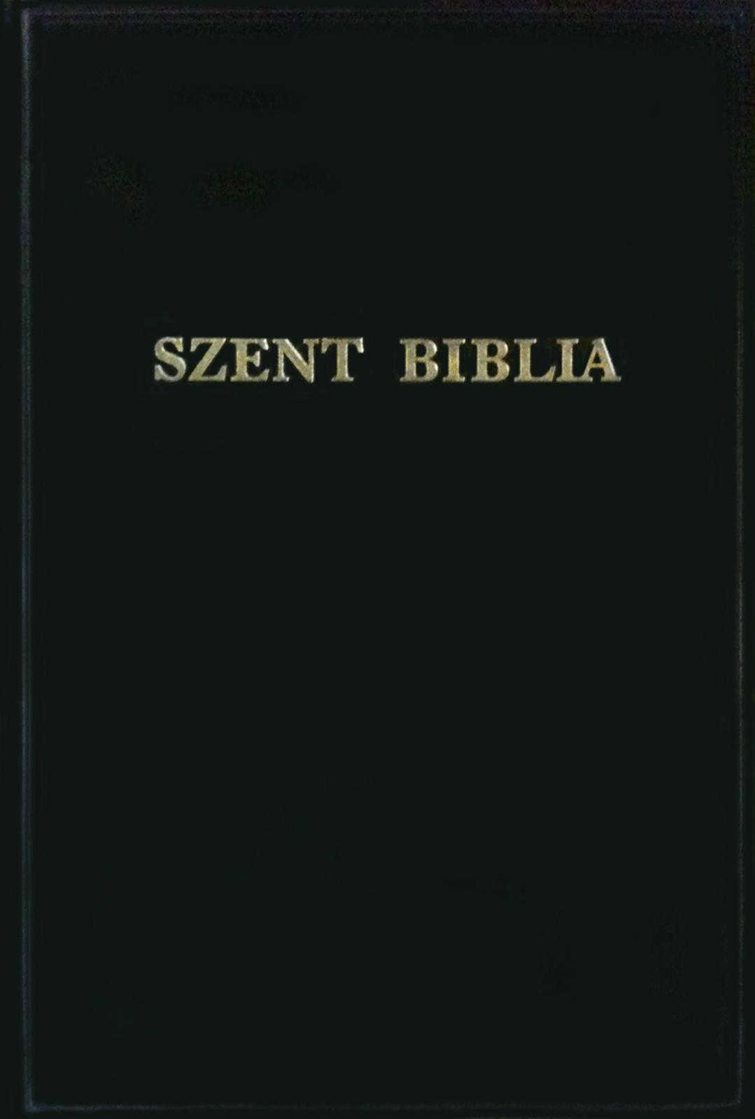 SZENT BIBLIA - NAGYBETÛS BIBLIA (REVIDEÁLT KÁROLI-FORDÍTÁS)