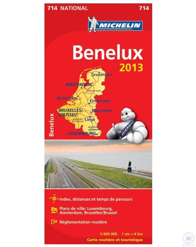 BENELUX - BENELUX ÁLLAMOK TÉRKÉP 2013