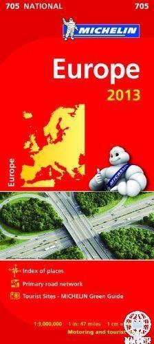 EUROPE 2013 - EURÓPA AUTÓTÉRKÉP (705)