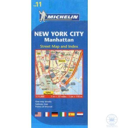 NEW YORK CITY, MANHATTAN TÉRKÉP 2013