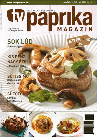TV PAPRIKA MAGAZIN - 2013. NOVEMBER