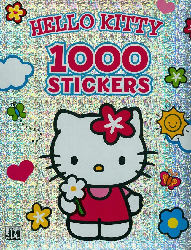 HELLO KITTY - 1000 STICKERS (MATRICÁS SZÍNEZÕ)