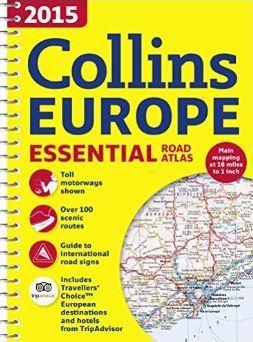 COLLINS EUROPE 2015 - ESSENTIAL ROAD ATLAS (EURÓPA ATLASZ, SPIRÁL A4)