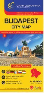 """BUDAPEST CITY MAP (TÉRKÉP 1:16.000 """"SC"""" ÚJ!)"""