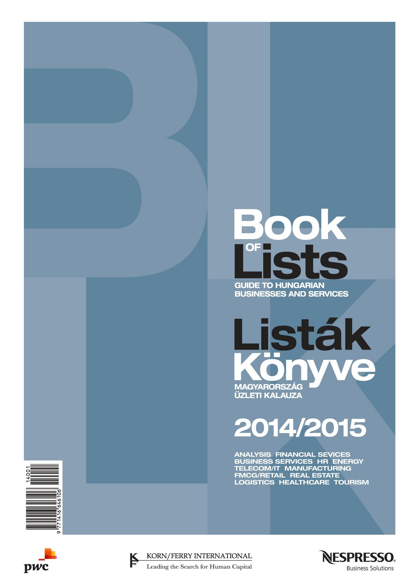 BOOK OF LISTS - LISTÁK KÖNYVE 2014/2015