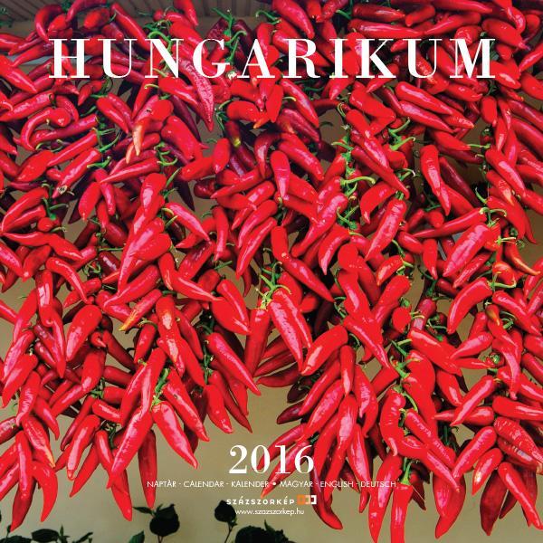 HUNGARIKUM 2016 - NAPTÁR (30x30)