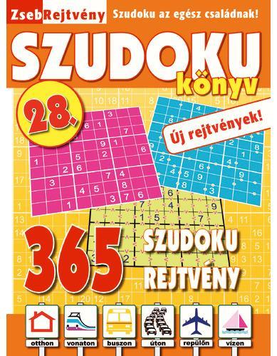 ZSEBREJTVÉNY SZUDOKU KÖNYV 28. - ÚJ REJTVÉNYEK!