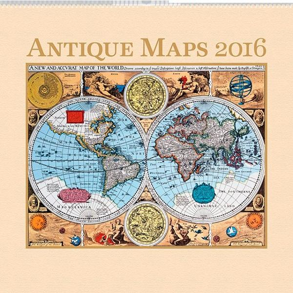 PG NAPTÁR ANTIQUE MAPS, 2016, 48 X 46 CM