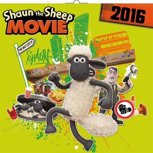 PG NAPTÁR SHAUN THE SHEEP IN MOVIE 2016, 30 X 30 CM