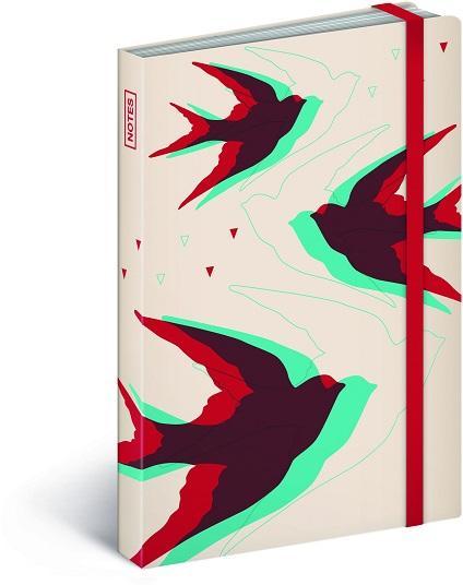 PG NOTESZ BIRDS MINI, NOTEBOOK 9 X 13 CM