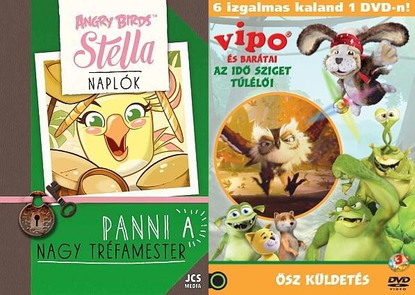 - ANGRY BIRDS SZTELLA NAPLÓK - PANNI, A NAGY TRÉFAMESTER + AJÁNDÉK VIPO DVD