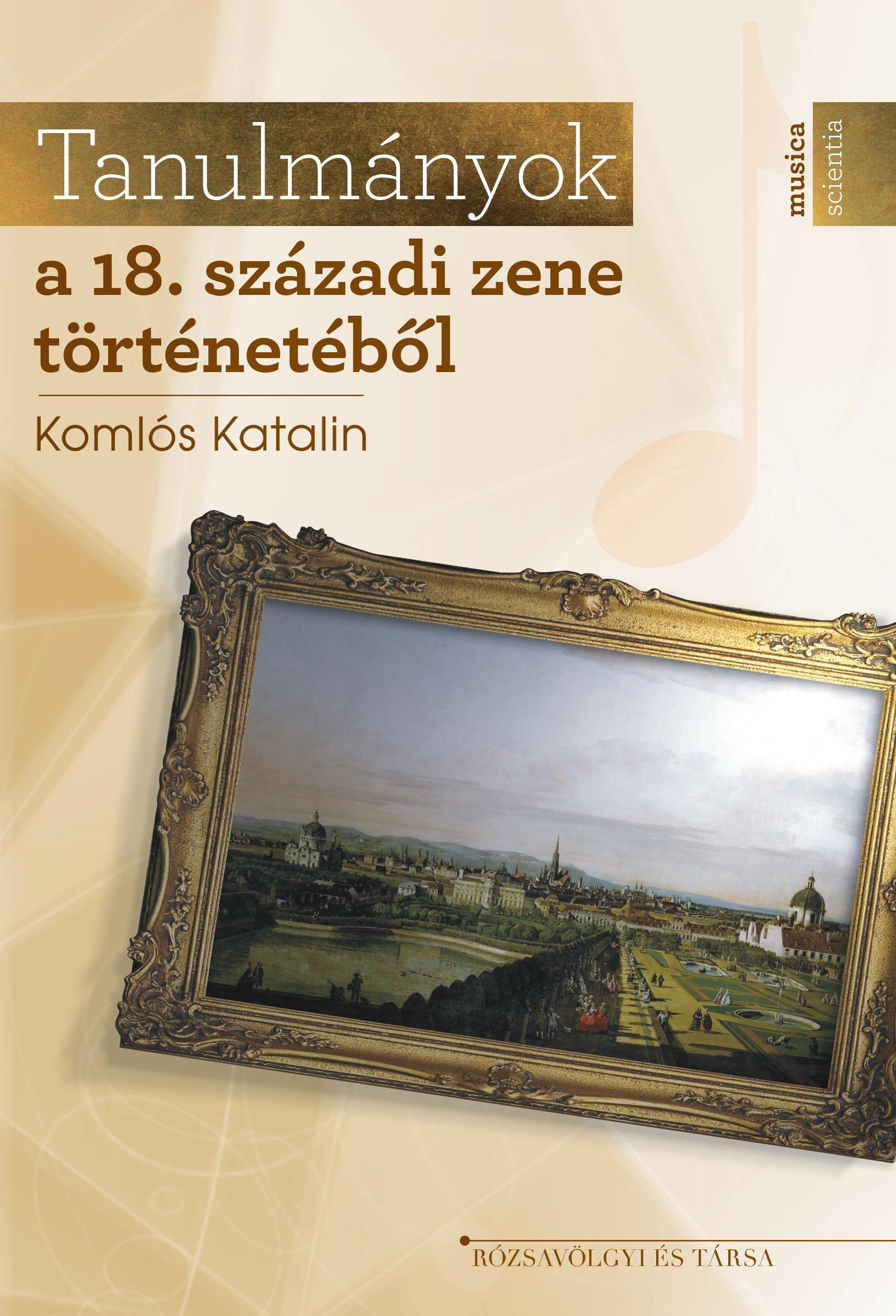 TANULMÁNYOK A 18. SZÁZADI ZENE TÖRTÉNETÉBŐL