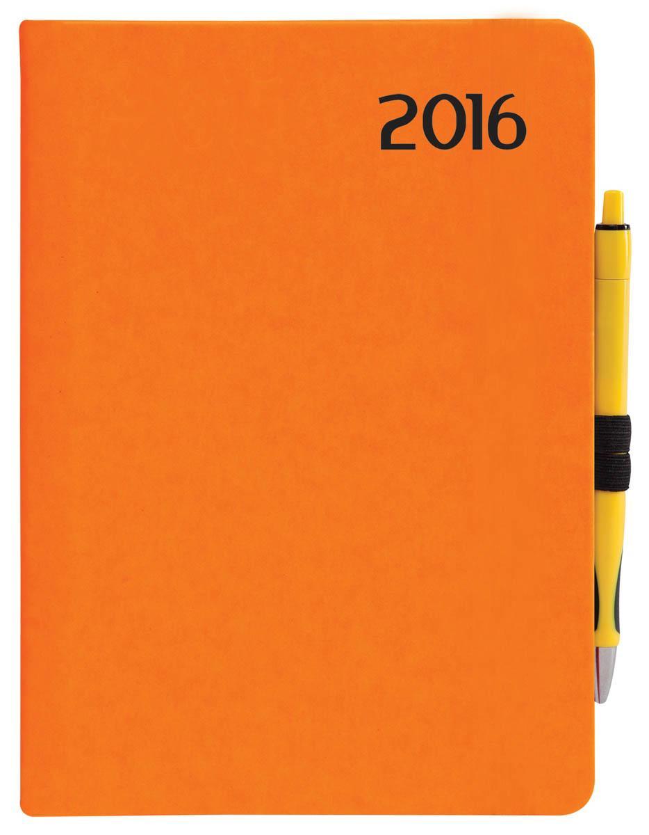 HATÁRIDÕNAPLÓ 2016 - B6 HETI NEON NARANCS R012