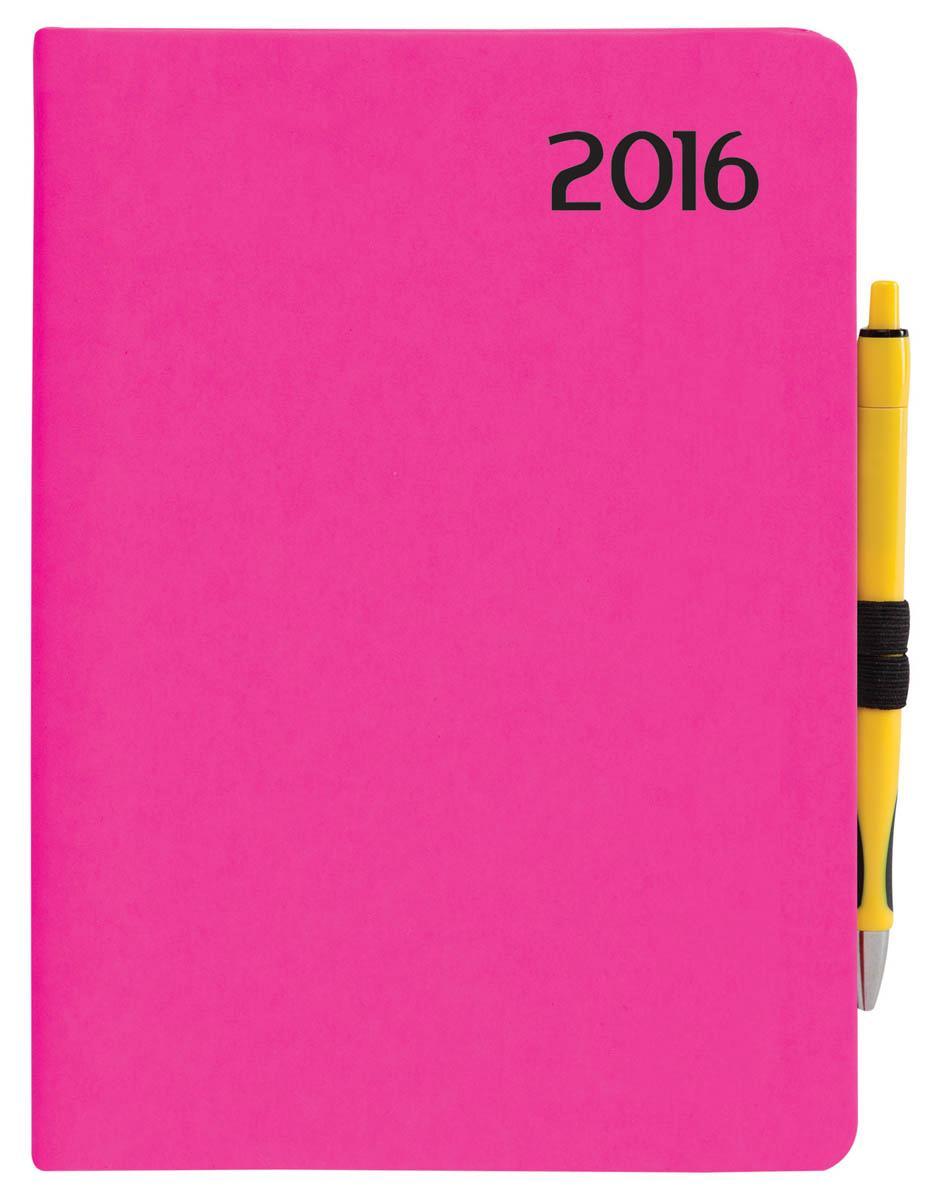 HATÁRIDÕNAPLÓ 2016 - B6 NAPI NEON PINK R022
