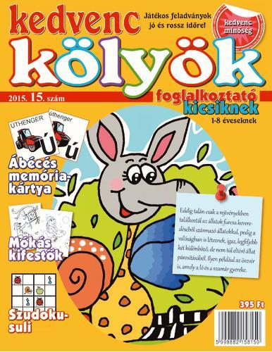KEDVENC KÖLYÖK FOGLALKOZTATÓ KICSIKNEK 15.