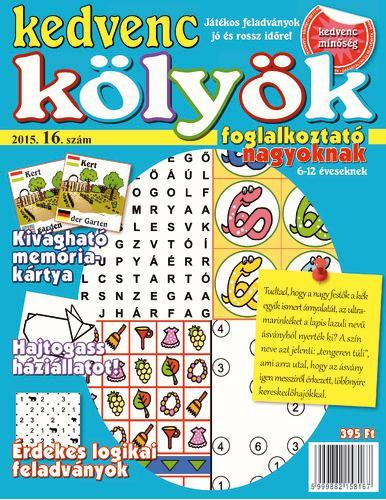 KEDVENC KÖLYÖK FOGLALKOZTATÓ NAGYOKNAK 16.