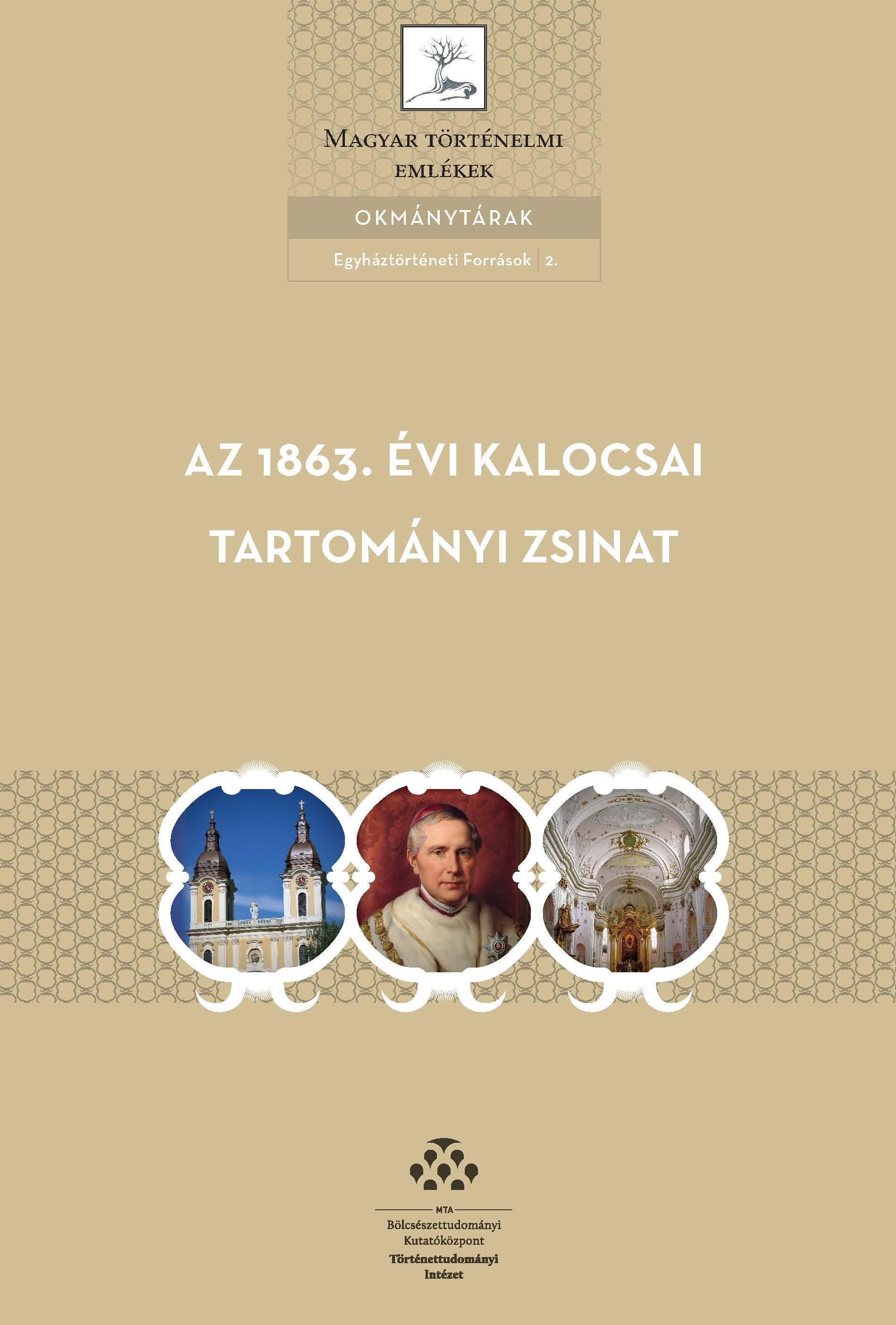 AZ 1863. ÉVI KALOCSAI TARTOMÁNYI ZSINAT