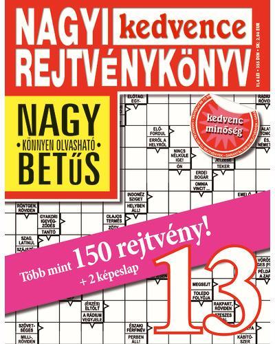 NAGYI KEDVENCE REJTVÉNYKÖNYV 13.
