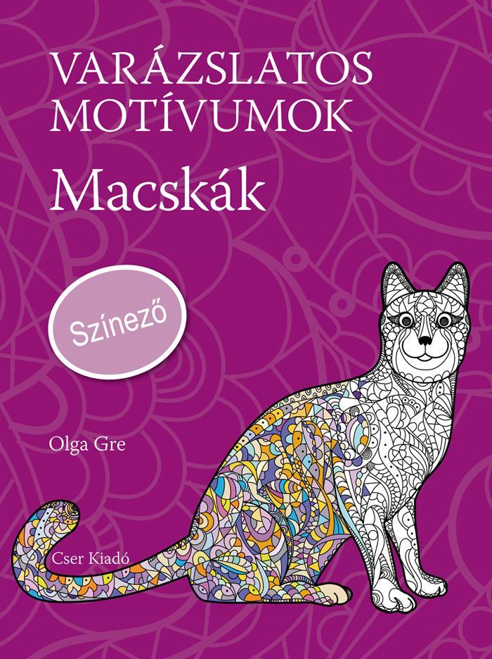 GRE, OLGA - VARÁZSLATOS MOTÍVUMOK - MACSKÁK - SZÍNEZŐ