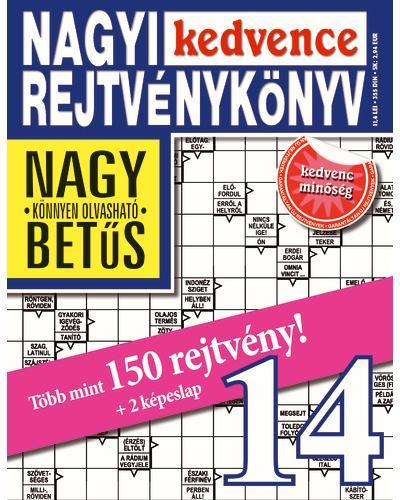 - - NAGYI KEDVENCE REJTVÉNYKÖNYV 14.
