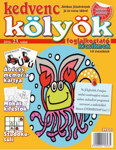 KEDVENC KÖLYÖK FOGLALKOZTATÓ KICSIKNEK 23.