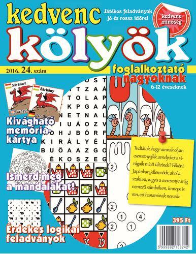 KEDVENC KÖLYÖK FOGLALKOZTATÓ NAGYOKNAK 24.