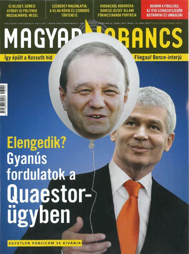 MAGYAR NARANCS FOLYÓIRAT - XXVIII. ÉVF. 20. SZÁM. 2016. MÁJUS 19.