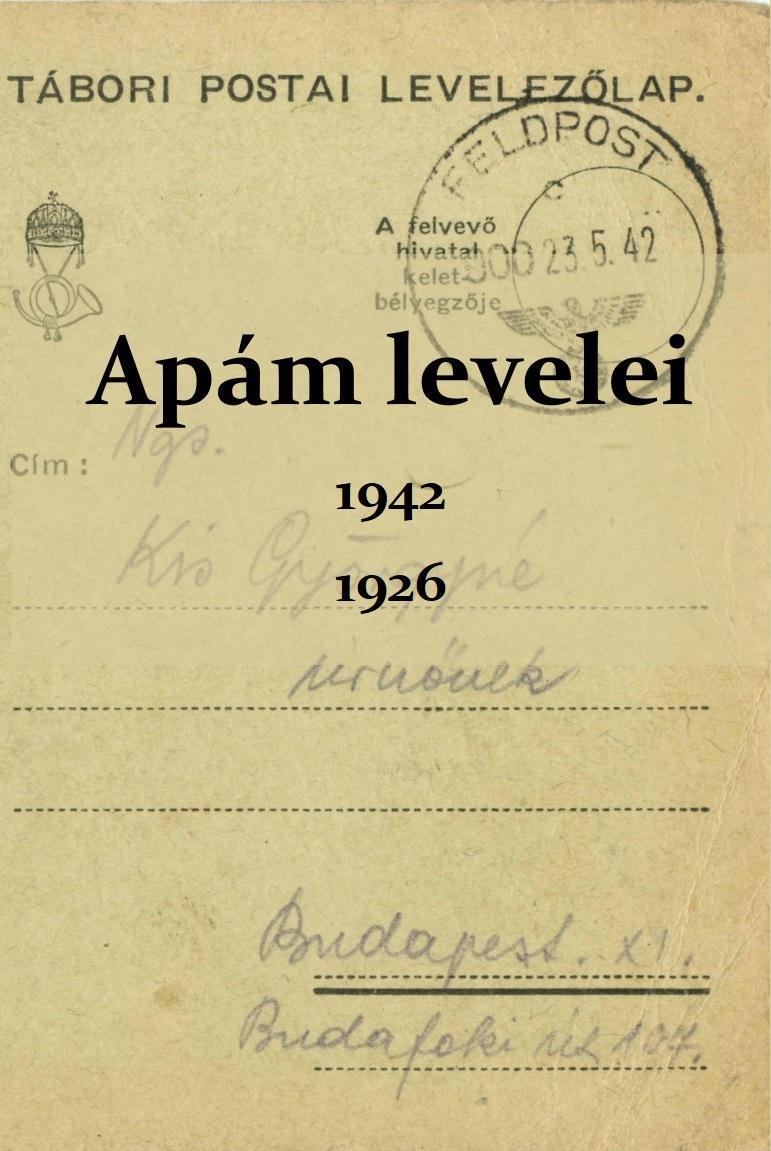 APÁM LEVELEI 1942, 1926