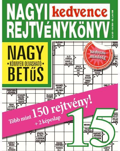 NAGYI KEDVENCE REJTVÉNYKÖNYV 15.