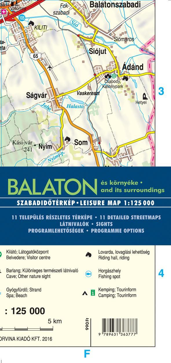 - BALATON ÉS KÖRNYÉKE 1:125.000 - TÉRKÉP