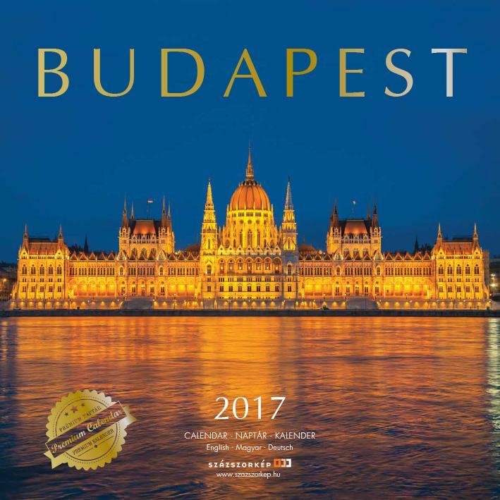 BUDAPEST PRÉMIUM 2017 - NAPTÁR 30X30CM