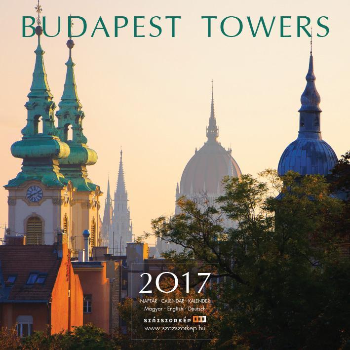 BUDAPEST TOWERS 2017 - NAPTÁR 22X22CM