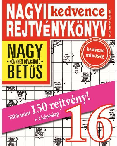 - - NAGYI KEDVENCE REJTVÉNYKÖNYV 16.