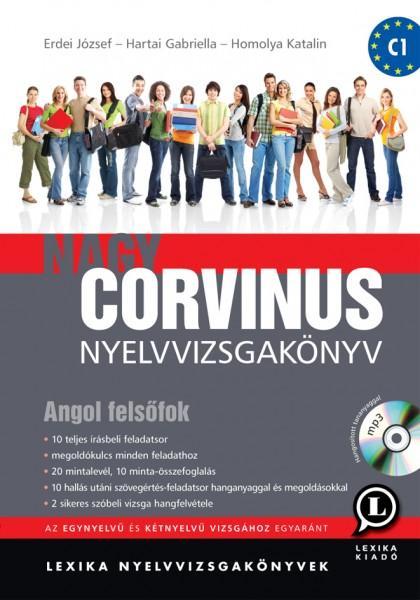 NAGY CORVINUS NYELVVIZSGAKÖNYV - ANGOL FELSŐFOK + CD